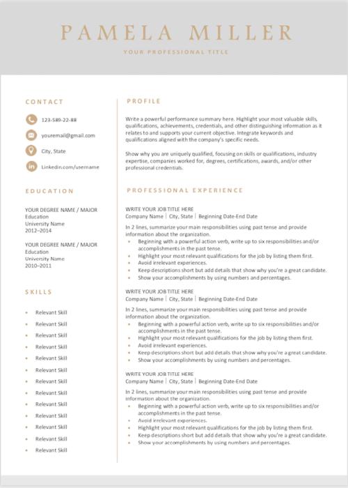 resume gray s