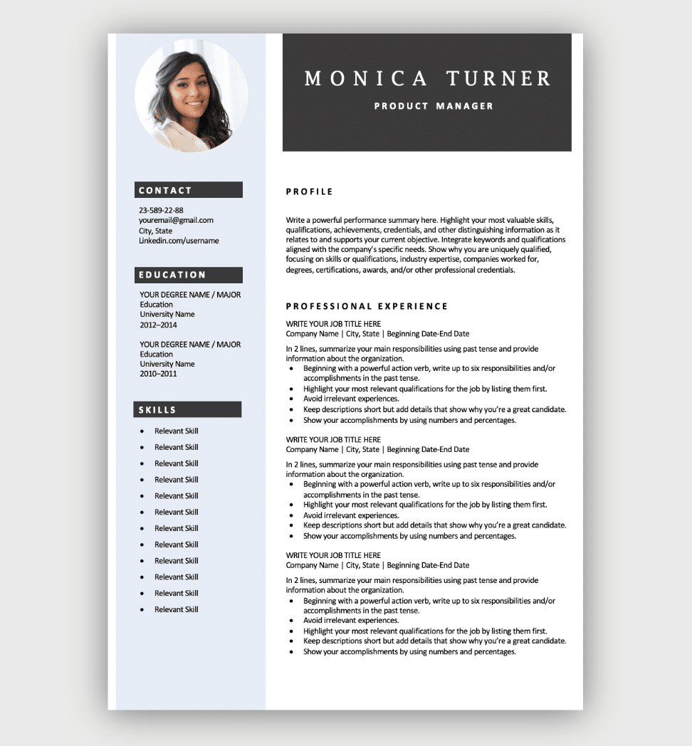 Free Resume Templates | Download Now
