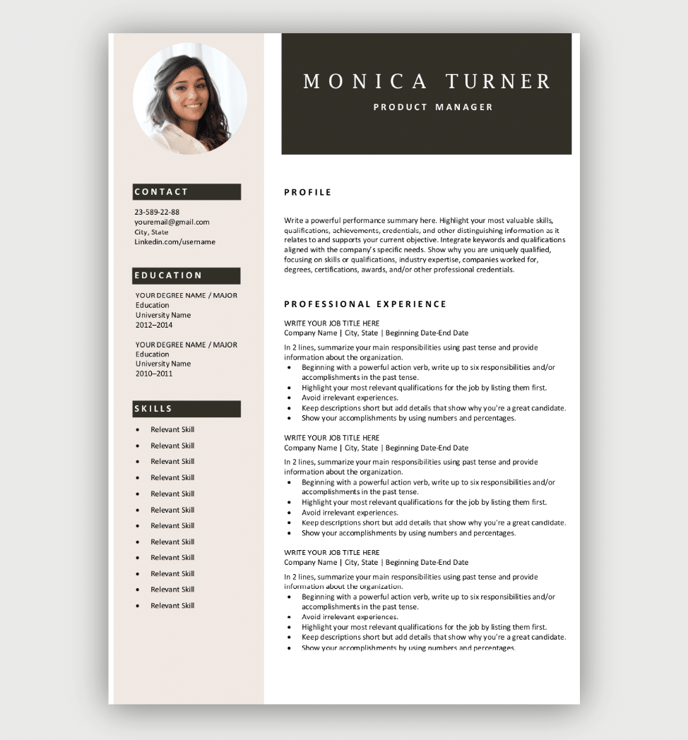 Free Resume Templates Download Now