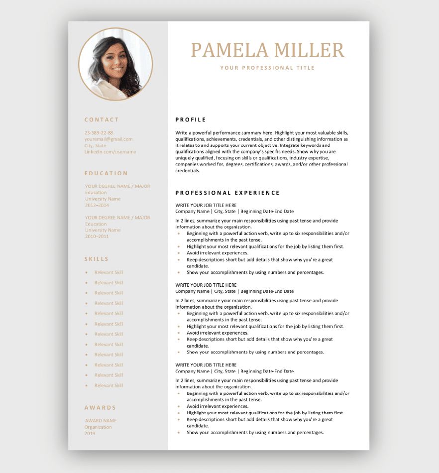 Editable Resume