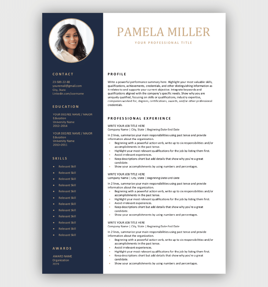 29+ Editable Resume Template Free Download Gif