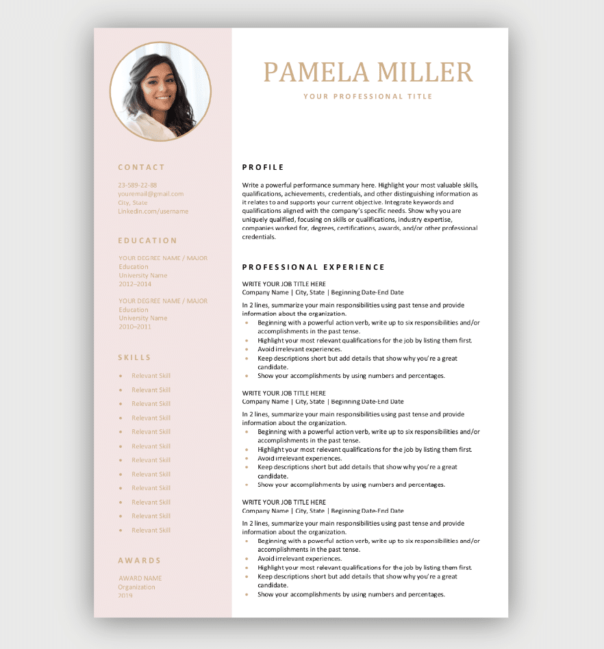 Modern Resume Template Download For Free