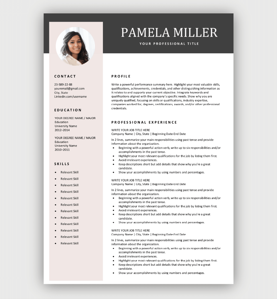 Premium Resume Templates from wemeancareer.com
